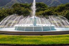 Vattenspringbrunn, Waikiki Royaltyfri Fotografi