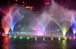 Vattenspringbrunnar i Kuala Lumpur Royaltyfri Bild