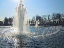Vattenspringbrunnar på minnesmärken arkivfoto
