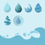 Vattensymbol Arkivfoto