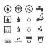 Vattensymbol vektor illustrationer