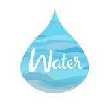 Vattensymbol av de fyra beståndsdelarna arkivbild