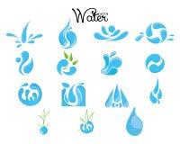 Vattensymbolsuppsättning Royaltyfri Fotografi