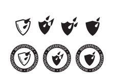 Vattentät symbol, symbol för vattenskydd - vektorillustration Royaltyfria Bilder