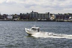 Vattentaxi Portland Maine Arkivfoton