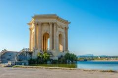 Vattentorn i den Peyrou trädgården i Montpellier Royaltyfria Bilder