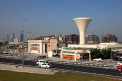 Vattentorn i Manama, Bahrain Arkivbild