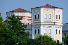 Vattentorn Kasia & Basia, Grodno Arkivbild