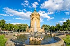 Vattentorn, Mannheim Arkivbilder