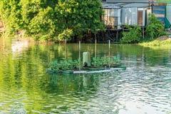 Vattenturbin, avloppsvattenbehandling royaltyfri fotografi