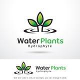 Vattenväxter Logo Template Design Vector Vektor Illustrationer