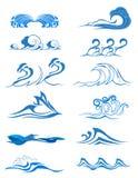 Vattenvågor royaltyfri illustrationer