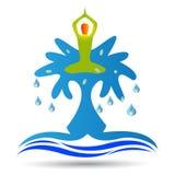 Vattenyoga royaltyfri illustrationer