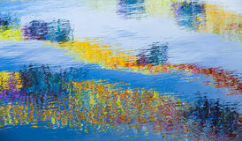 Vattenyttersida med ljus reflexion Royaltyfria Foton