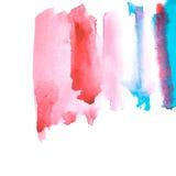 Vattnig fördelande illustration för rosa färger och för blått Arkivbild