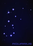 Vattumannenstjärnakonstellation Arkivbild