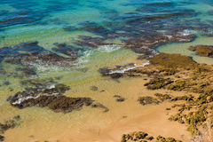 Vau beach in Portimao. This beach is a part of famous tourist region Algarve Royalty Free Stock Images