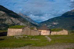 Fortress Mont Dauphin. Vauban fortress of Mont Dauphin in the French alps royalty free stock image
