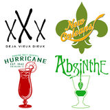 Vaudou, Fleur de Lis, absinthe et ouragan Photo stock