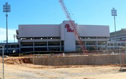 Vaught-Hemingway Stadium under construction in Oxford, Mississippi Royalty Free Stock Photography