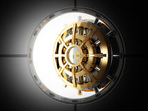 Vault 3d da porta do banco Fotografia de Stock Royalty Free