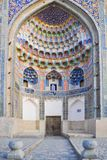 Vault of the Abdulaziz-Khan Madrasah is located in the historical part of Bukhara. stock photo