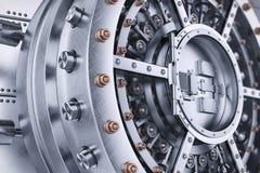 Vault bank safe open door mechanism Stock Photography