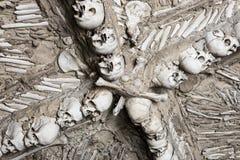 Vault of bones, Campo Maior. Chapel of human bones at Campo Maior Our Lady of Da Expectaçao Church, Portugal Stock Photos
