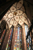 Vault da catedral - Strasbourg Fotografia de Stock Royalty Free
