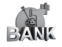 Vault de banco fechado Cofre forte do banco, conceito da segurança Imagem de Stock Royalty Free