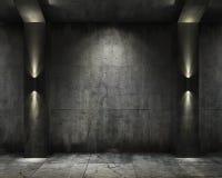 Vault do concret do fundo de Grunge ilustração royalty free