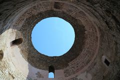 Vault of the dome of the vestibule of Diocletian`s Palace, Split royalty free stock images