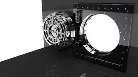 Vault door. 3D render Royalty Free Stock Photography