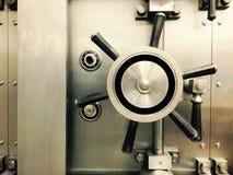 Vault Door. A massive vault door stock photos