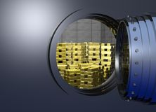 Vault_door_open Royalty Free Stock Image