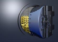 Vault_door_partial Stock Image