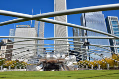 Vault frame of Chicago Pritzker Pavilion in Millennium park Royalty Free Stock Photography