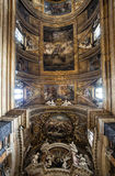 Vault of Gesù e Maria Church, Jesus and Mary. Rome, Italy. Stock Photography