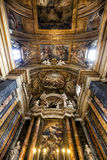 Vault of Gesù e Maria Church, Jesus and Mary. Rome, Italy. Royalty Free Stock Image
