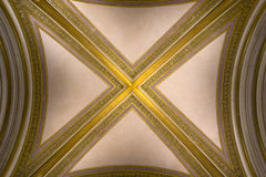 Vault with gilded ribs Stock Images