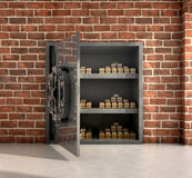 Vault with gold bars Royalty Free Stock Photos