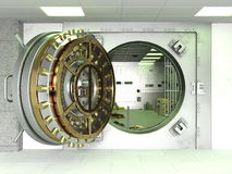Vault. Image of a vault on white royalty free stock image