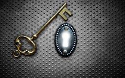 Vault key Stock Photos