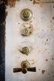 A vault knob. In a grunge style stock images