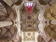Vault of Church Of Our Ladyin Trier, Germany. The Liebfrauenkirche (Church of Our Dear Lady) is a 13th-century parish church in Trier, separated from Trier Royalty Free Stock Photos