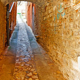 Vault. Over a Narrow Street in the Italian City of Todi Royalty Free Stock Photography