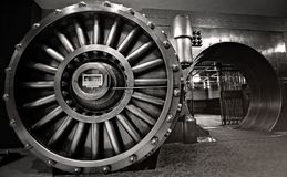 The Vault, bank vault space. The Vault, a place for historic underground event venues and famous bank safe exhibit stock images