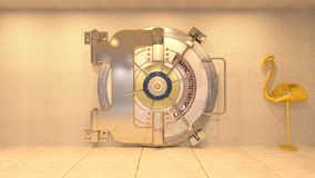 Vault room. 3D CG rendering of the vault room royalty free stock images