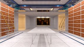 Vault room. 3D CG rendering of the vault room stock images