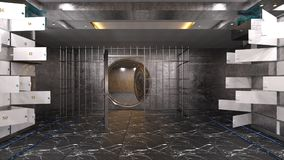 Vault room. 3D CG rendering of the vault room stock photo